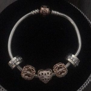 CHAIN BRACELET PANDORA ROSE WITH STERLING SILVER